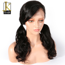 Lace Front Human Hair Wigs For Black Women Remy Brazilian Body Wave Wig Pre Plucked With Baby Hair Bleached Knots Elegant Queen(China)