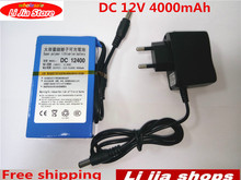 DC 12 V 4000 mAh Li-lon DC12V Super Rechargeable Battery + AC Charger + explosion-proof switch US / EU / UK Plug(China)