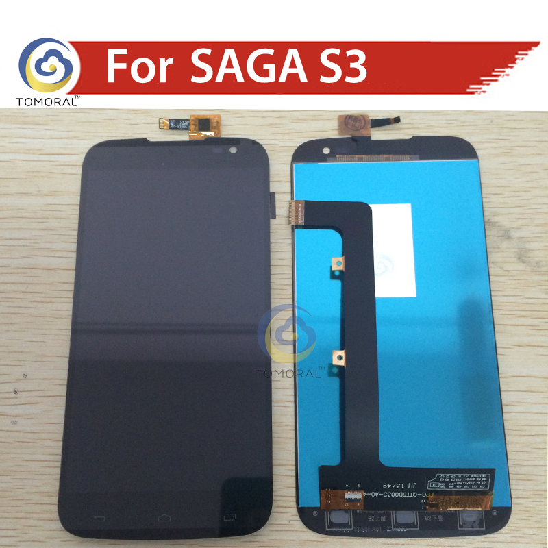 Tomoral 1PC 6.0 Black LCD+TP for GIGABYTE GSmart Saga S3 LCD Display+Touch Screen Digitizer Assembly Glass Lens Free Shipping<br><br>Aliexpress