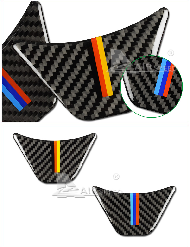 for BMW X1 F48 2016 Carbon Fiber Car Steering Wheel Stickers M Sport for 1 Series F52 F45 F46 Accessories Car Styling (4)