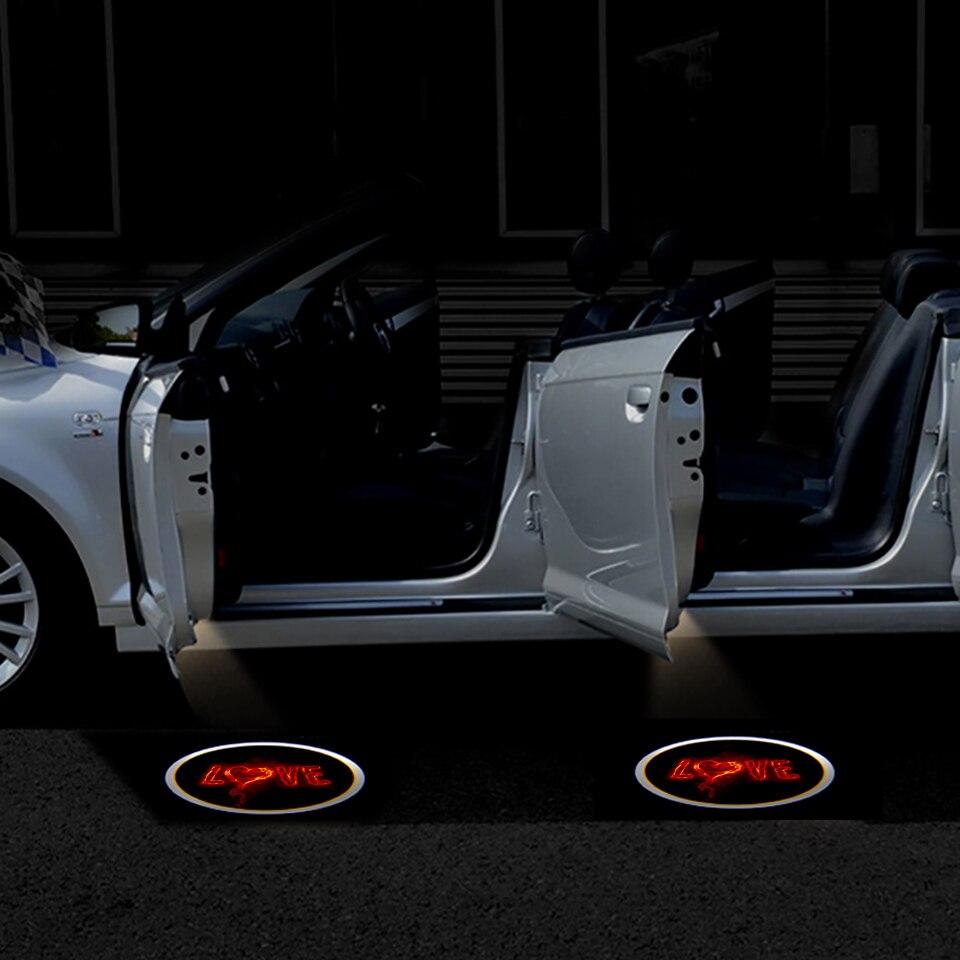 2pcs Wireless Car Door Led Welcome Laser Projector Logo Ghost Shadow Light Batman Car-styling Car Interior Lamp Light (1)