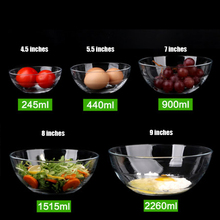 Western style Lead-free Glass bowl rice bowl restaurant household salad bowl Glass tableware dessert bowl