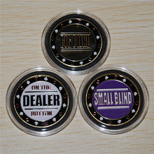 Mix Poker Coin,Metal Big Blind, Small Blind & Dealer Button,Poker buttons,Texas hold'em buttons,9pieces/lot Free shipping