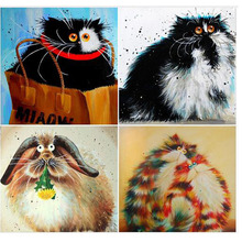 Colorful Cat Diy 5D Diamond Painting Cross Stitch Full Diamond Embroidery Square Drill Animal Home Decor Best Christmas Gifs zx