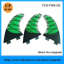 Surfboard Fin Carbon Fibre Fins G5 Green Honeycomb Fins Tri-Set Quilhas FCS Fins in Surfing(China)