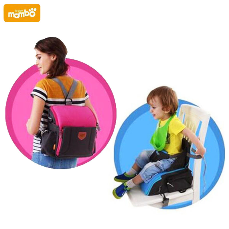 Mambobaby portable baby infant children dinng chair seat mummy bag large capacity 2 in1 multifunctional toddler travel cribs<br>