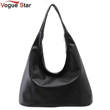 Vogue Star 2017 new women PU leather handbag black shoulder bag  Hobos Designer women  handbag bolsa feminina YK40-484
