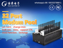 FIMT interface USB GSM MODEM 32 PORT M35 MODEM POOL Support STK For Mobile Recharge(China)