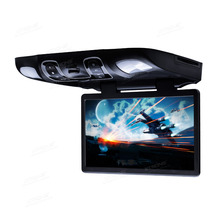 "XTRONS 15.6"" Black  Flip Down Car DVD Roof Car DVD Roof Monitor Car DVD with Easy Installation with the Mounting Bracket"