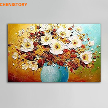 Unframed Modern Abstract Oil Painting Handmade Floral Palette Knife Painting Home Wall Art Picture For Living Room Decoration