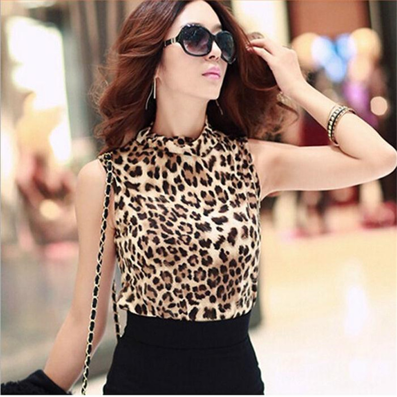 2017 New Fashion Cotton Women Clothing Sexy Blusas Femininas Top Leopard Camisole Shirt Women's Vest Tops Cropped shirt women