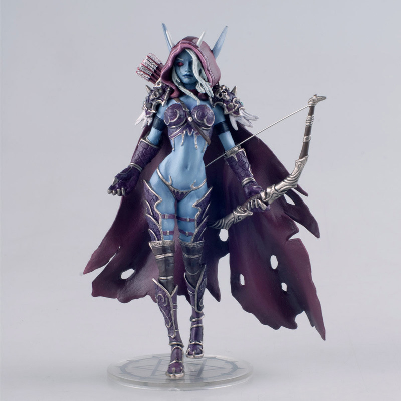 1pcs 14cm Online gaming WOW Figurine, Queen Sylvanas Undead model, classic PVC Figurine<br><br>Aliexpress