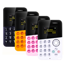 New AIEK/AEKU M8 Mini Card Phone Low Radiation Bluetooth Message Color Screen Childrens Pocket Cell Phones PK AIEK M5 In Stock