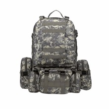 (Ship From US) Tactical Outdoor Climbing Backpack Rucksacks Sport Hiking Camping Travel Combination Bag Double-shoulder Bag(China)