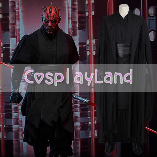 Star Wars Jedi Knight Darth Maul Cosplay Costume Adult Suit Halloween Party Costume for Men Star Wars Outfit