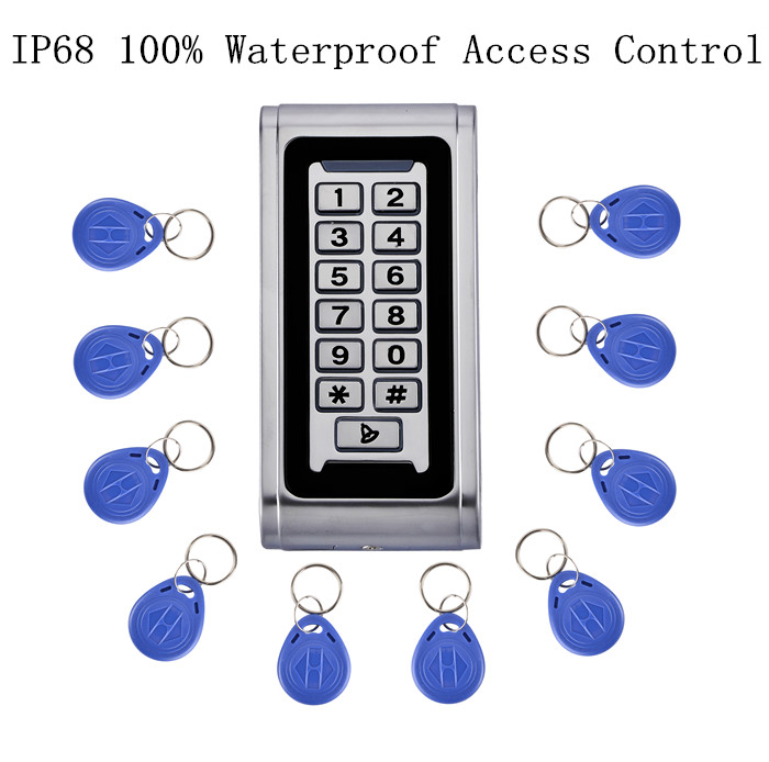 IP68 100% Waterproof  Metal Access Control Keypad RFID Card Reader For Door Access Control System Can Put Inside Water<br>