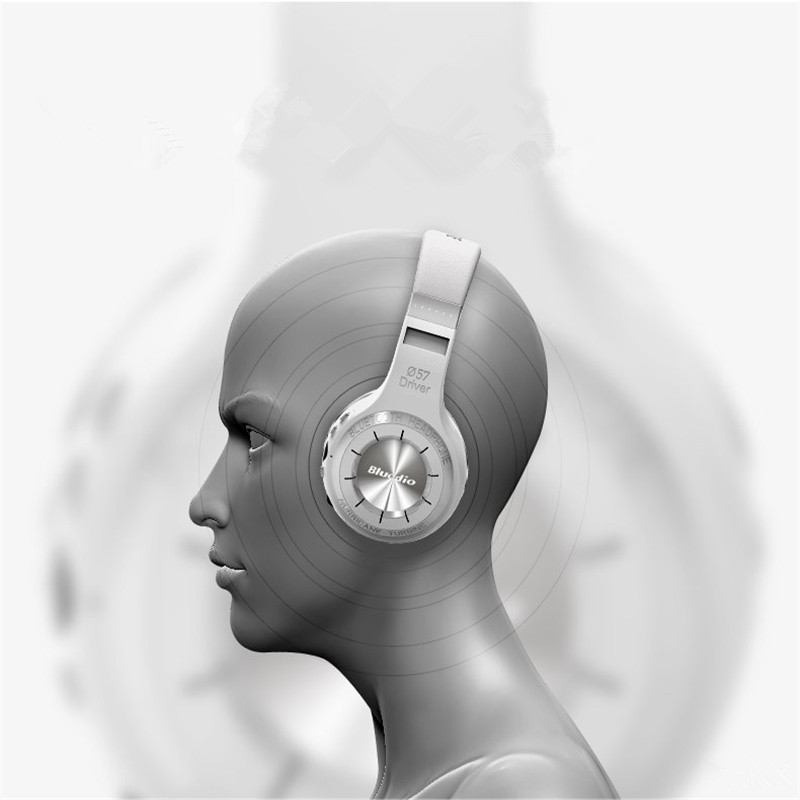 100% Original Bluedio H+ Wireless Bluetooth Headphones Stereo Over Ear Headset Mic Earphone Support FM Radio Micro-SD for iphone<br><br>Aliexpress