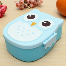 New Children Cartoon Owl Lunch Box Food Fruit Storage Container Portable Bento Box Food-safe Food Picnic Container HH5