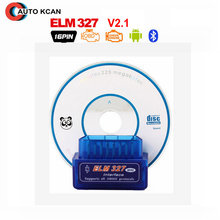 Super MINI elm327 Bluetooth  V2.1 elm 327 Works Android Torque Wireless Interface Auto CAN-BUS ELM327 Supports OBDII Protocols