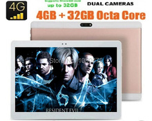 2017 DHL Free 10 Inch Tablet PC 3G 4G Lte Octa Core 4GB RAM 64GB ROM Dual SIM 8.0MP Android 6.0 1920*1200 IPS GPS Tablet PC 10""