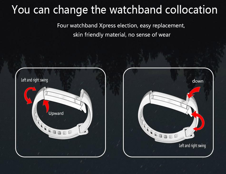 image for SYESER New M2 Smart Band Blood Pressure Oxygen Fitness Bracelet Heart
