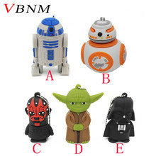VBNM Star Wars Creative R2D2 Robot model 8GB 16GB 32GB USB 2.0 Flash Pen Drive Memory Disk 0Stick usb flash drive(China)