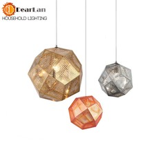 Modern Fashional Gold/Silver Ball Pendant Lamps Personality Balcony Wrought Pendant Lights E27 Pendant Lamps For Dining Room(China)