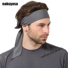 Europe Outdoor solid color men women sports sweatband headband yoga gym head band running tennis fitness pirate headband(China)