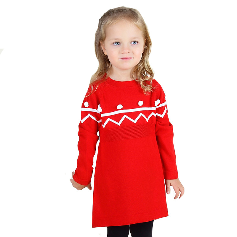 2017 spring Sweater Knit Dress Baby Girls Dress Party Dress Birthday Gift Cute Baby Girl Clothings Red Blue Black Girls Dress<br><br>Aliexpress