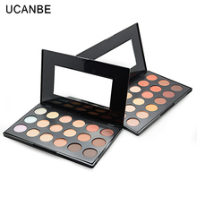 2017 Big Size Makeup 18 Colors Concealer Countour Palette with Mirror Bronzer Highlighter Camouflage Face Concealer Cream(China)