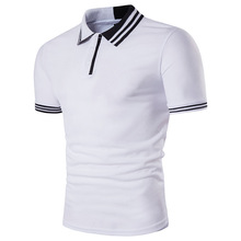 Summer New Men Polo Shirt 2017 Fashion Striped Collar Short-sleeved Polo Homme Brand Male Cotton Slim Fit Polo Shirt