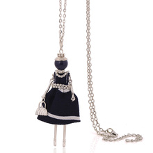 statement necklace fashion for women big choker girl jewelry new arrival cute ribbon long doll necklace wholesaler chain collar(China)