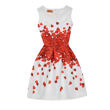 Girls Clothing Floral Casual Girls Dress 5 8 10 11 12 Years Princess Kids Clothes Summer Children's Party Wedding Print Dresses(China)