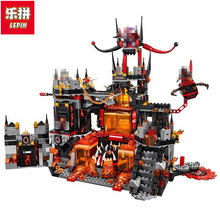 Lepin Nexo Knights Axl Jestros Volcano Lair Combination Marvel Building Blocks Kits Toys Figures Compatible Nexus 181 - Toy World Store store