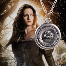 snow white necklace vintage antique silver Once Upon A Time Emma swan talisman pendant jewelry for men and women wholesale