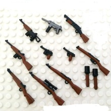 World War II firearm Original Blocks Educational Toys Swat Police Military Weapons Gun Model City Accessories Lepin Mini figures
