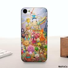 MaiYaCa Silicone case Colorful Adventure Time Finn And Jake New Hot Sale phone case cover For iPhone 5 5s 6 6plus 7 7plus(China)