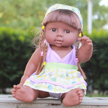 28cm Reborn Baby Doll Soft Vinyl Silicone Lifelike Newborn Baby Speaking Toy(China)
