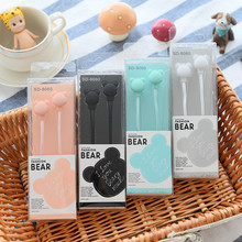 Cute Bear Girl Daughter Music Headphones Headset Ear Decoration Earphones For Lg MP3 Birthday Gift(China)