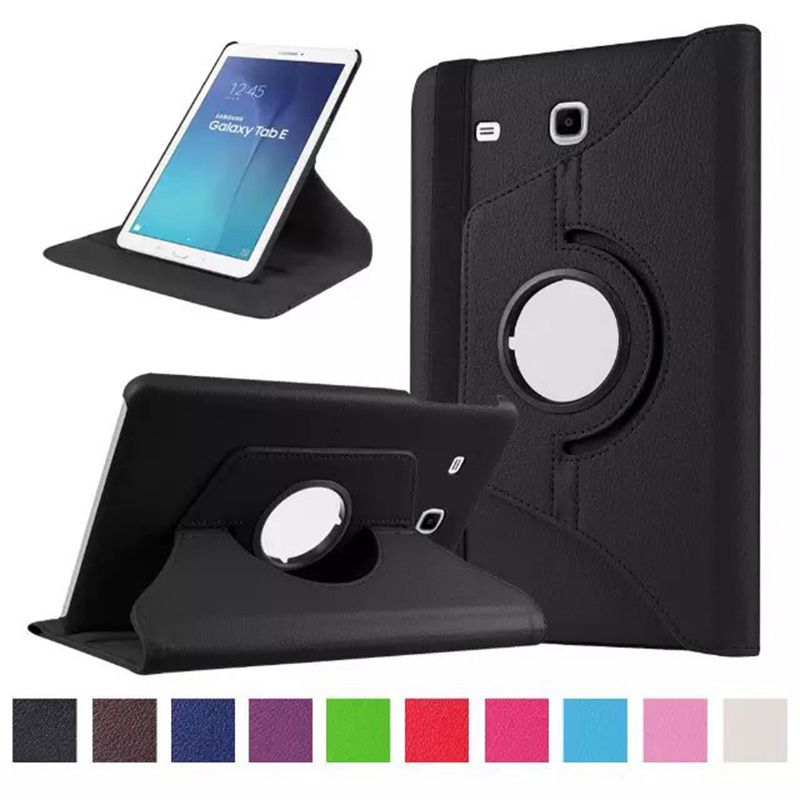 Luxury 360 Rotating Flip Leather Stand Case Cover for Samsung Galaxy Tab E T560 T561 tablets &amp; Books cases y4c28d<br><br>Aliexpress