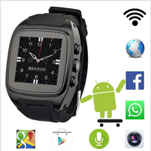 Hot X01 android 5.1 OS Smart watch phone support 3G wifi SIM WCDMA bluetooth 1.3GHz Dual Core 4G ROM Smartwatch with camera