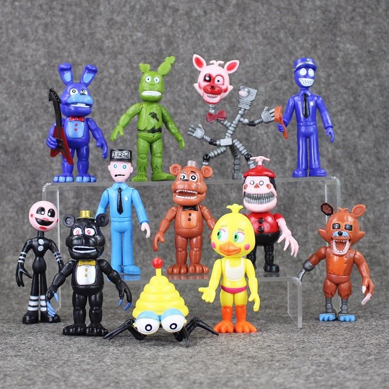 Hot Sale 12Pcs/Set Five Nights At Freddys figure FNAF Chica Bonnie Foxy Freddy Fazbear Bear Doll PVC Action Figures Toy<br><br>Aliexpress