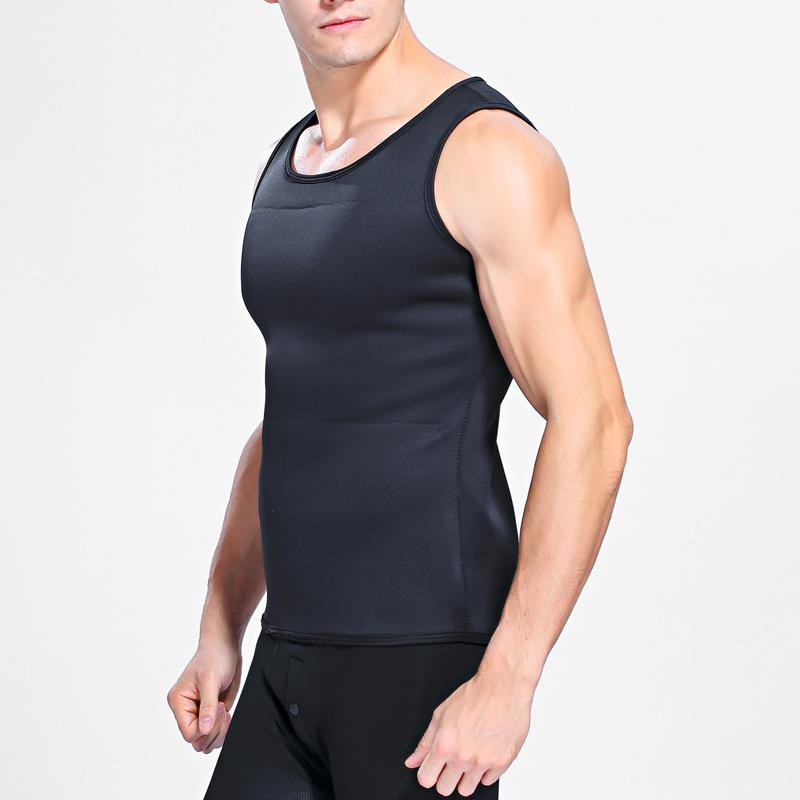 Hot Shapers Slimming T-shirt Neoprene Shaper Men Slimming Vest Body Shaper Corset Waist Trainer Belt Super Stretch Shapewear 4