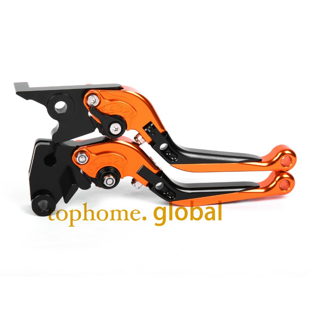 CNC Folding&amp;Extending Brake Clutch Levers For Moto guzzi Norge 850 1200/GT GTL 2008-2012 2009 Orange&amp;Blac Motorcycle Accessories<br>