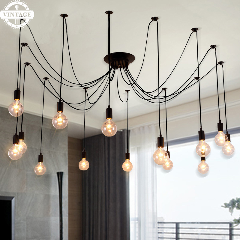 High Quality Novelty Pendant Light Adjustable  Vintage Spider Loft Industrial Warehouse DIY Design Ceiling Lamps for Home<br>