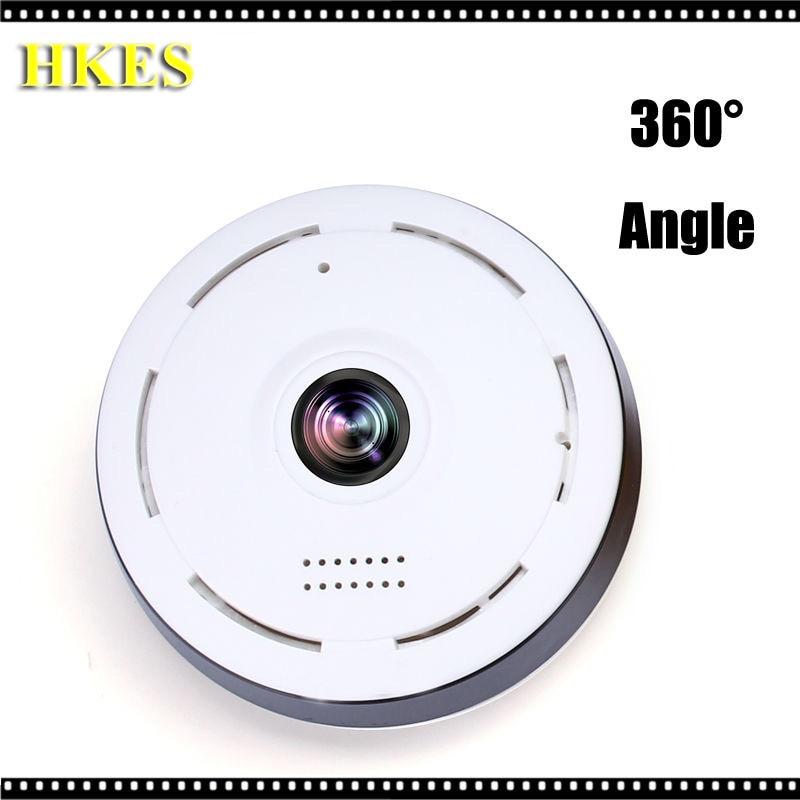 HKES  360 Degree VR smart panoramic IPC Wireless 960P IP Fisheye Camera Support Two Way Audio P2P 960P HD wifi camera<br>