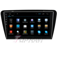 Capacitive Screen 10.1'' Android 4.2 Car Navigation for Octavia From 2014 With 16GB Nand Flash Memory Wifi BT Map