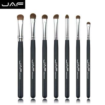 Venta al por menor Marca JAF 7 UNIDS Pinceles de Maquillaje Profesional sistema de Cepillo Del maquillaje Del Pelo Natural de Caballo de Alta Calidad Componen Cepillos