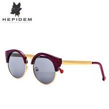 No Box HEPIDEM Summer Style Women Cat Eye Sunglasses Women Brand Designer Cateye Cheap China Ladies Sexy Sun Glasses Decorative