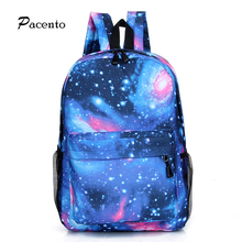Pacento New Galaxy Backpack Star Fashion Backpack School Bags for Teenager Girls Fantasy Starry Sky Student Shoulder Bags Vogue